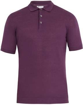 Brunello Cucinelli Linen-blend polo shirt