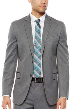 Jf J.Ferrar JF Gray Herringbone Stretch Suit Jacket - Slim Fit