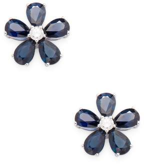 Artisan Women's Flower Sapphire Stud Earrings