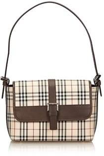 Burberry Pre-owned: Plaid Jacquard Handbag. - BROWN X BEIGE X MULTI - STYLE