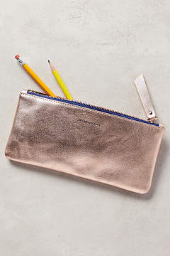 Anthropologie Metallic Idiom Pencil Case