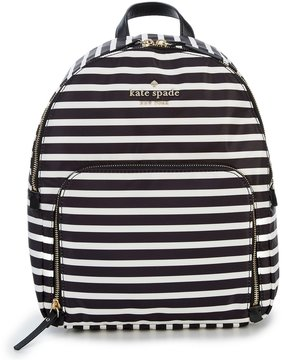 Kate Spade Watson Lane Hartley Stripe Backpack - BLACK/CLOTTED CREAM - STYLE