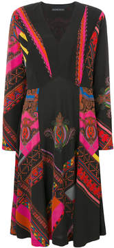 Etro long-sleeved patterned dress