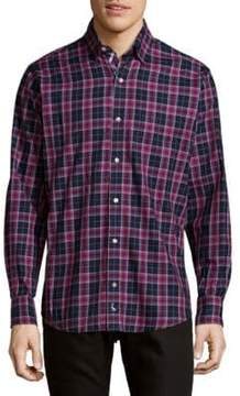 Tailorbyrd Plaid Cotton Button-Down Shirt