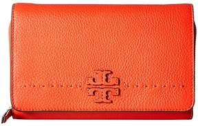 Tory Burch McGraw Flat Wallet Crossbody Cross Body Handbags - POPPY RED - STYLE