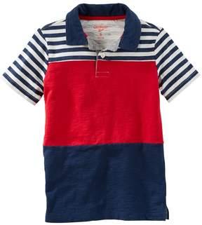 Osh Kosh Boys 4-12 Short Sleeve Stipe Polo