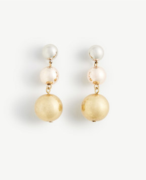 Ann Taylor Triple Ball Drop Earrings