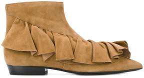 J.W.Anderson ruffle trim ankle boots