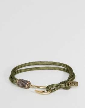 ICON BRAND Hook Cord Bracelet In Khaki
