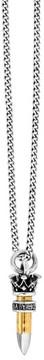 King Baby Studio Men's .22 Caliber Bullet Pendant Necklace