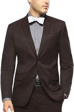 Jf J.Ferrar JF Burgundy Twill Suit Jacket - Slim Fit