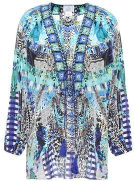 Camilla Embellished silk cover-up