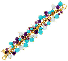 Elizabeth Taylor As Is The Blue and Purple Cluster Bead Bracelet