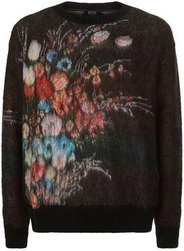 N°21 N 21 Floral Crew Neck Sweater