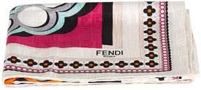 Fendi Logo Print Square Foulard