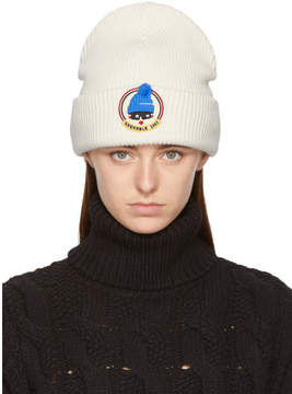 Moncler White Grenoble Face Beanie
