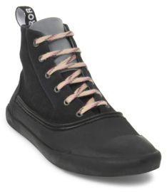 Lanvin Woven Cotton High Top Sneakers