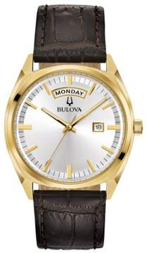 Bulova 97C106 Classic Mens Watch Brown 39mm Stainless Steel