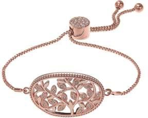 Brilliance+ Brilliance Rose Gold Tone Vine Filigree Adjustable Bracelet with Swarovski Crystals