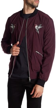 Religion Hummingbird Embroidered Bomber