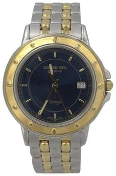 Raymond Weil Geneve Date Tango Stainless Steel Gold Plated Quartz 36mm Mens Watch