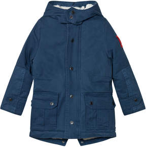 Little Marc Jacobs Blue Hooded Parka
