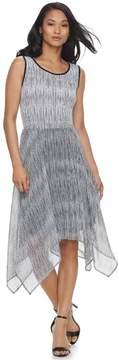 Elle Women's Print Handkerchief Hem Tank Dress