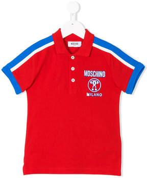 Moschino Kids stripe detail logo polo shirt