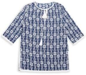 Snapper Rock Girl's Tasseled Pineapple-Print Tunic
