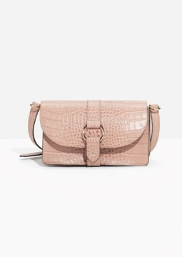 Croco Embossed Shoulder Bag