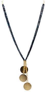 Stephanie Kantis Beaded Sea Jasper Tassel Necklace