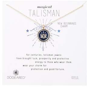 Dogeared Magical Talisman Small Lotus Pendant Necklace