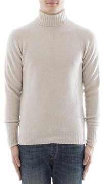 Drumohr Men's Beige Cashmere Sweater.