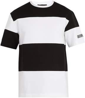 Calvin Klein Bi-colour striped cotton-jersey T-shirt