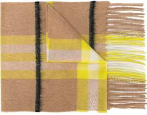 Burberry cashmere checked scarf