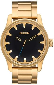 Nixon Driver Gold-Tone Stainless Steel Mens Watch A979510