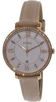 Fossil Women's Jacqueline ES4303 Gold Leather Japanese Quartz Fashion Watch
