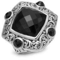 Lois Hill Onyx Square Ring