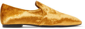 The Row Alys Velvet Loafers - Gold