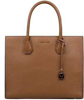 Michael Kors Light Caramel Mercer Hammered Leather Top Handle Bag - BROWN - STYLE