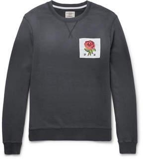 Kent & Curwen Slim-Fit Appliquéd Loopback Cotton-Jersey Sweatshirt