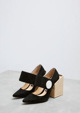 Jacquemus Black Les Chaussures Gros Boutons