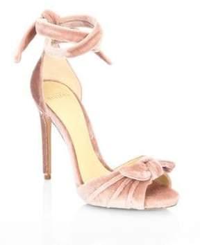 Alexandre Birman Jessica Velvet Ankle Wrap Sandals