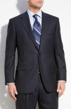 Hickey Freeman Men's A Fit Wool Suit