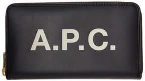 A.P.C. Black Morgane Continental Wallet