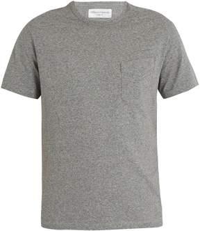 Officine Generale Asymmetric chest-pocket cotton-jersey T-shirt