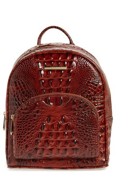 Brahmin Mini Dartmouth Leather Backpack - Brown