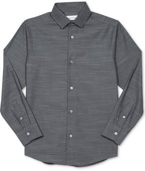 Calvin Klein Boys' Striped Button-Up Shirt, Big Boys (8-20)