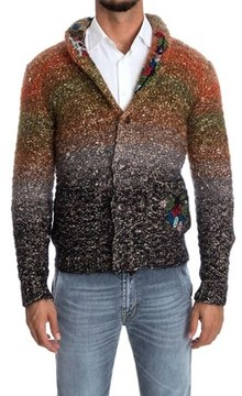 Missoni Men's Multicolor Wool Cardigan.