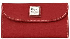 Dooney & Bourke Saffiano Continental Clutch Wallet - BURNT ORANGE - STYLE